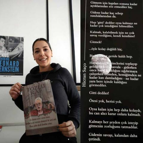 JAM Employee Hicran Saco publishes poem in turkish newspaper