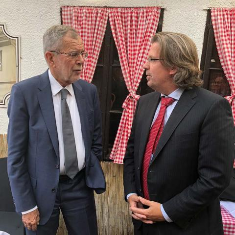 Austrian Federal President Van der Bellen is on an official visit to the Serbian capital Belgrad.
