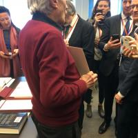 Austrian delegation for culture and science and visited the Albert Einstein Archives