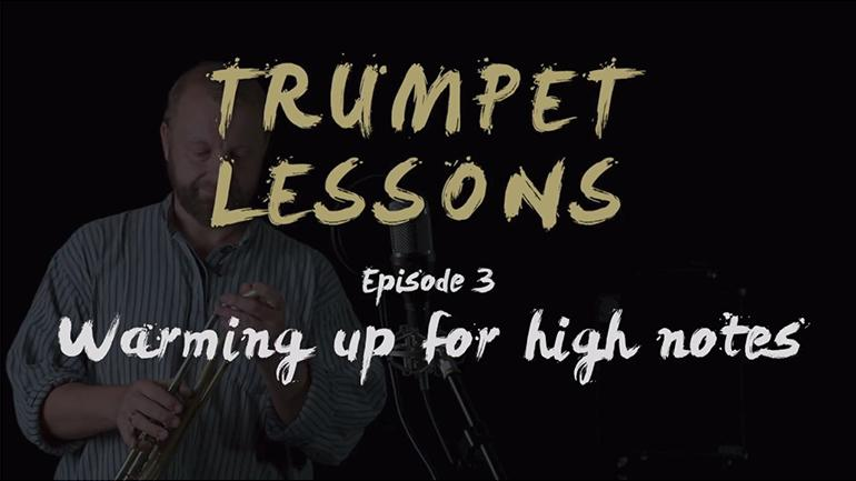 JAM trumpet lessons: Episode 03 - warming up for high notes
